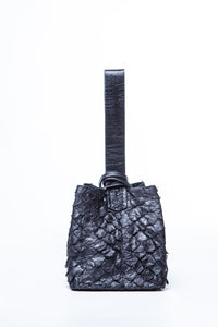 soho bag | black pirarucu leather
