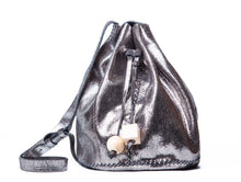 chelsea bag | silver lezard leather