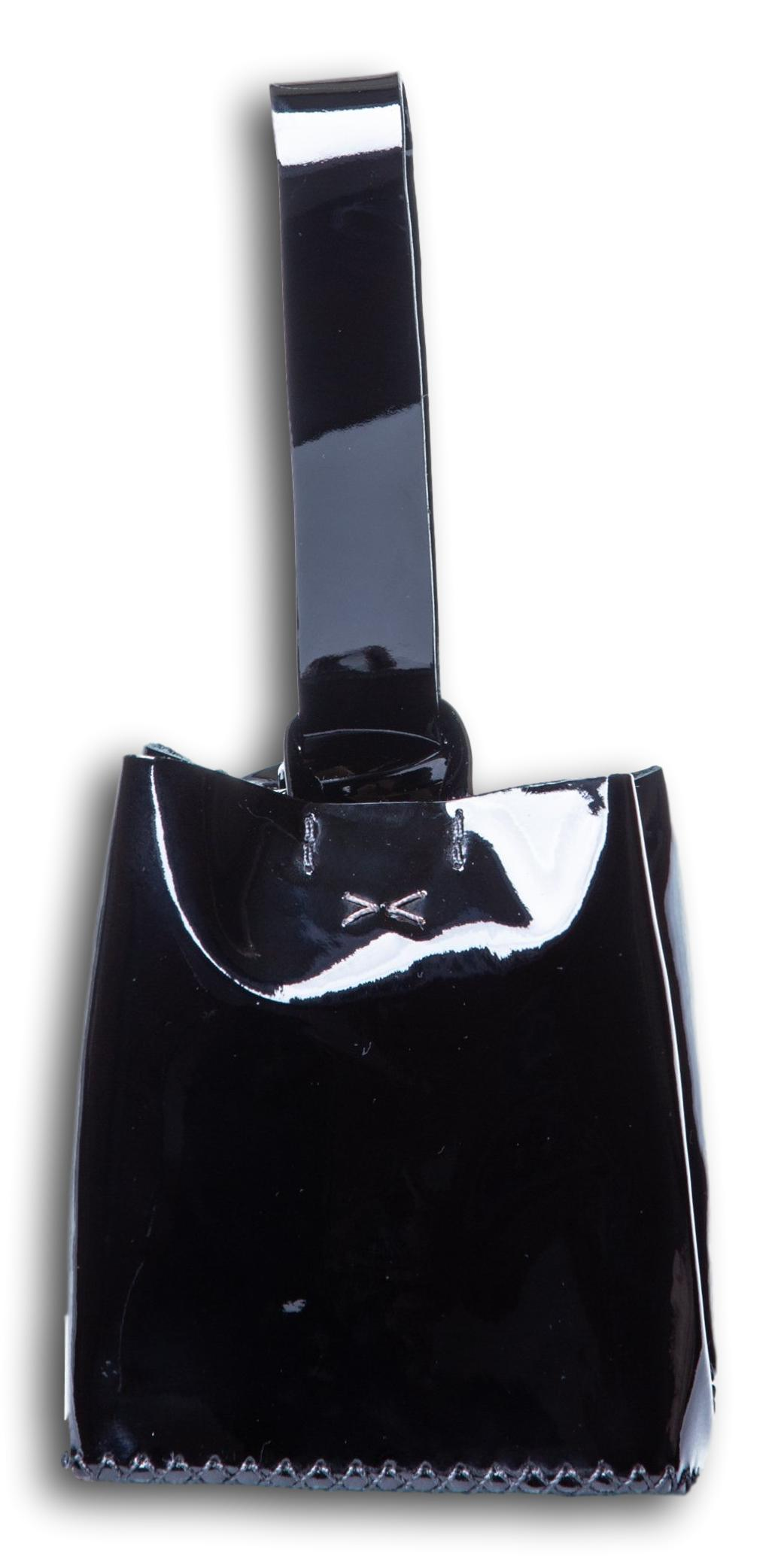 soho small bag | black patent leather - Volta Atelier