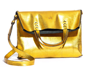 vila medium | golden leather