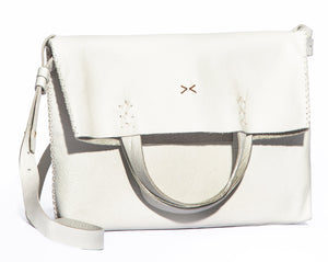 vila medium | white leather