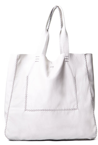 ipanema bag | white leather