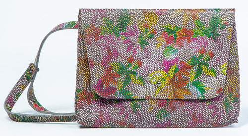 lapa bag | floral granulated printed leather