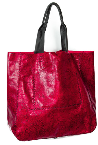 ipanema bag | red distressed leather