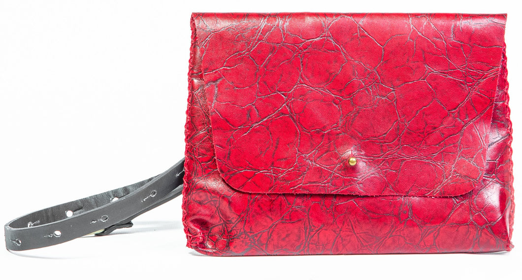 lapa bag | red printed leather
