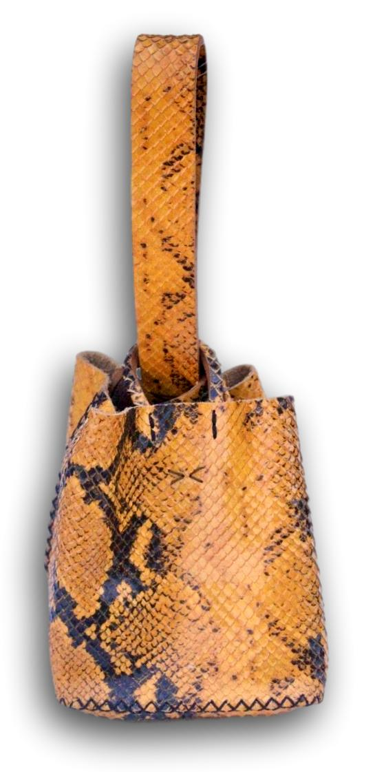 soho bag | 3D snake printed leather - Volta Atelier