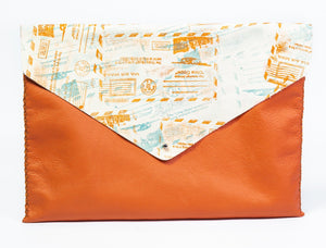 downtown case | orange leather - Volta Atelier