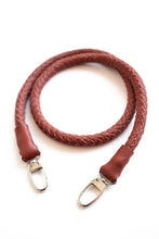 hand-braided leather strap - red - Volta Atelier