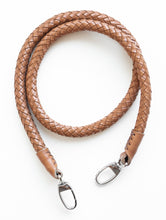 hand-braided leather strap - brown - Volta Atelier