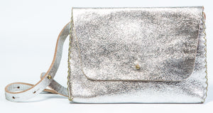 lapa bag | silver leather