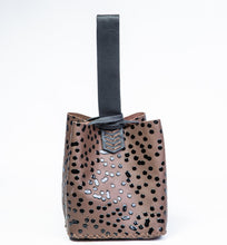 soho bag | brown leather with coffee drips