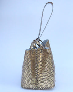 soho bag | light copper snake-printed leather