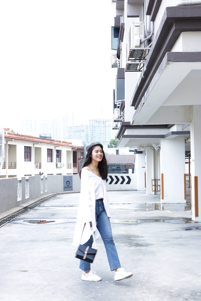 Wednesday OOTD - Asymmetrical Shirt + Above Ankle Ripped Jeans