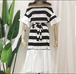 ON SALE - One-Off Shoulder / Off Shoulder Stripe Dress