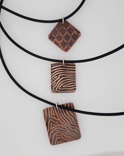 Copper Patterned Dog Tag