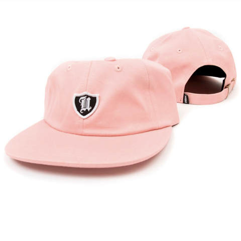 Uprise Polo Crest 6 Panel Hat Salmon