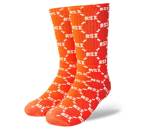 RAWSOXLTD Monogram Orange