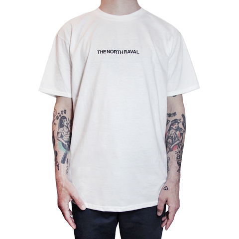 "The North Raval - tshirt ""chest"" white"