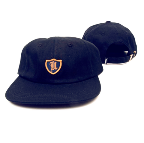 Uprise Polo Crest 6 Panel Hat Navy