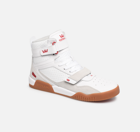 SUPRA breaker white, red-gum