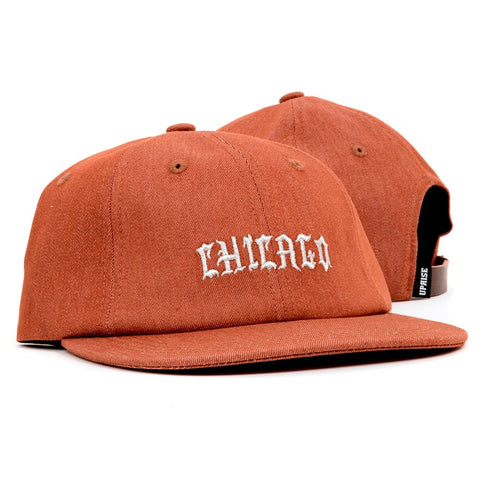 UPRISE CHI-TOWN DENIM 6-PANEL (RUST)