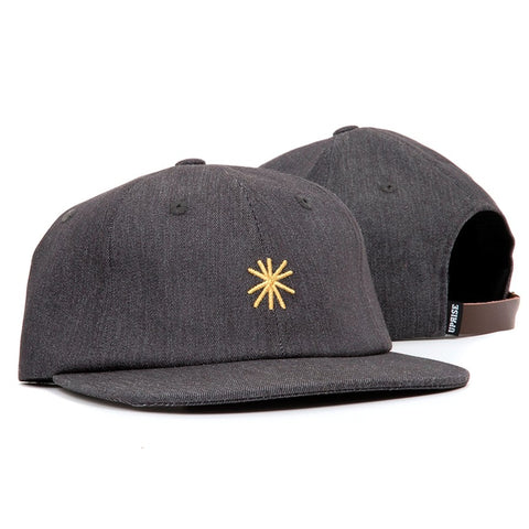 Uprise Star Denim 6 Panel Hat Ash
