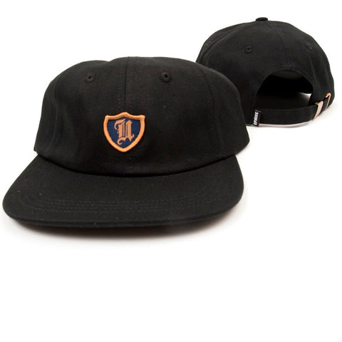 Uprise Polo Crest 6 Panel Hat Black