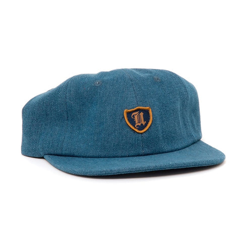 UPRISE POLO CREST 6-PANEL HAT (BLUE DENIM)