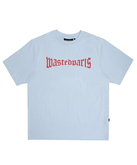 Straight Tshirt London Light Blue Wasted Paris