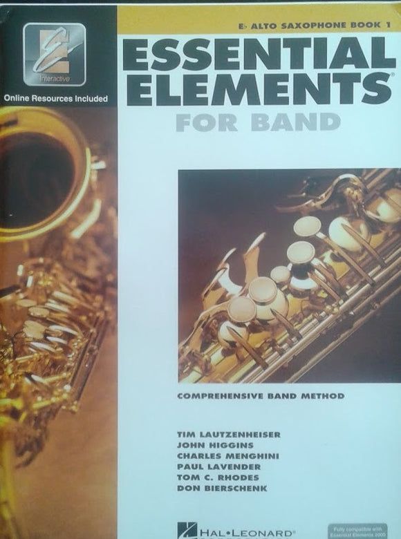 Essencial Elements for band Alto Sax