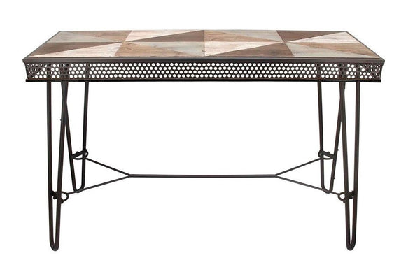 Metal & Wood Console Table RL-0309HB