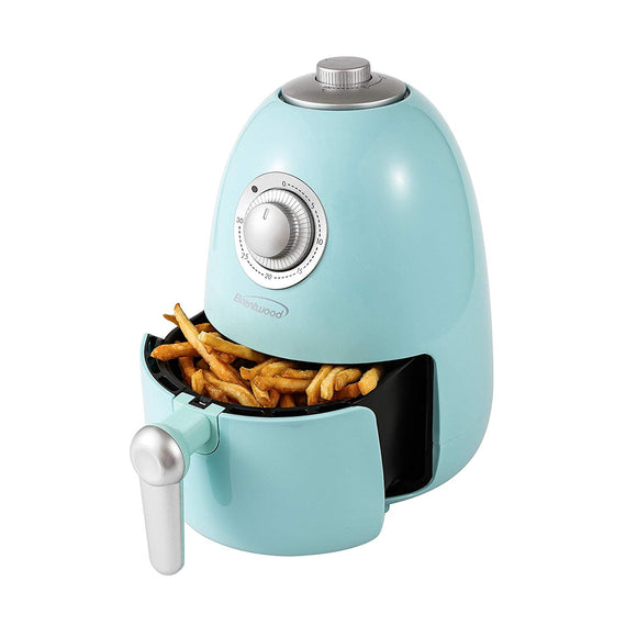 Brentwood AF-200Bl Electric Air Fryer with Timer & Temp. Control, Blue
