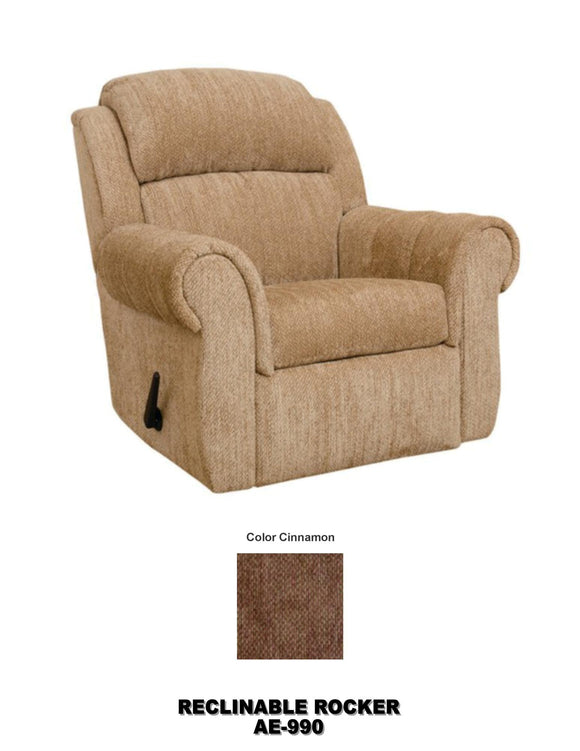Sillon Reclinable color crema tela