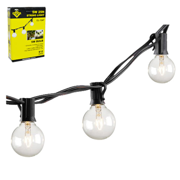 EL-1847 25FT STRING LIGHT WITH E12-25