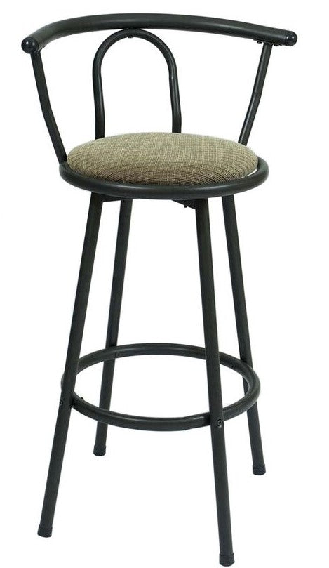 STOOL RL-0181YXSwivel Barstool - Chocolate/Beige Fabric