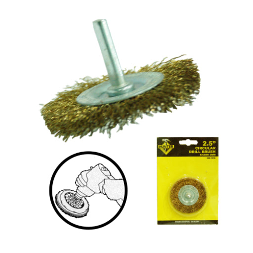 HM-1836 2-1/2' X 1/4' SHANK WIRE WHEEL BRUSH