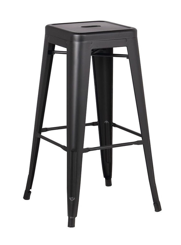 Stool de metal color negro mate estilo retro