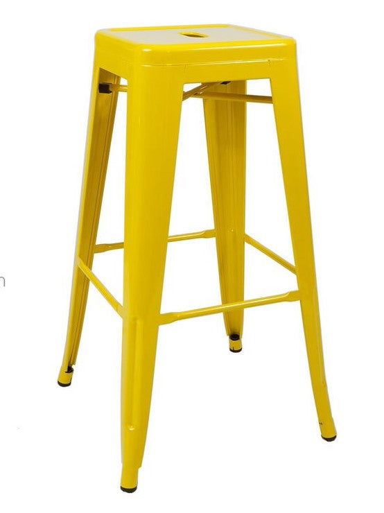 Stool de metal Retro Amarillo