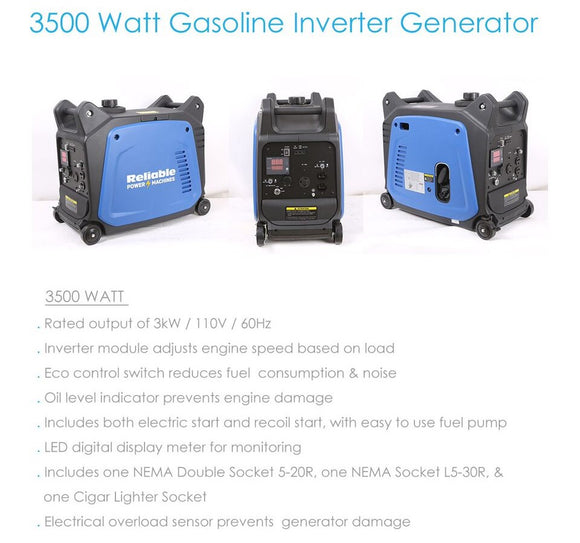 Generador Inverter 3500 Watts