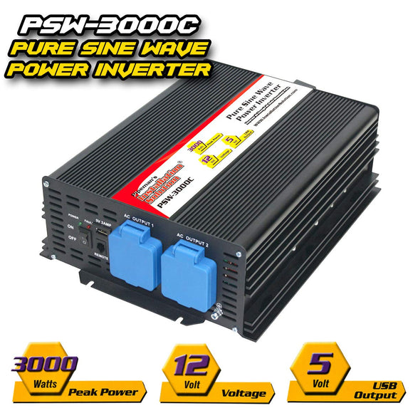 Power Inverter PureSine  PSW-3000C      1500 WATTS PURE SINE WAVE