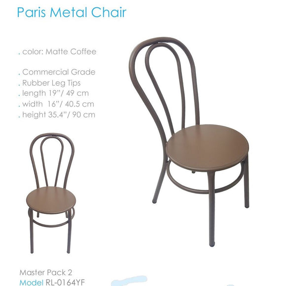 SILLA MODELO PARIS METAL RL0164