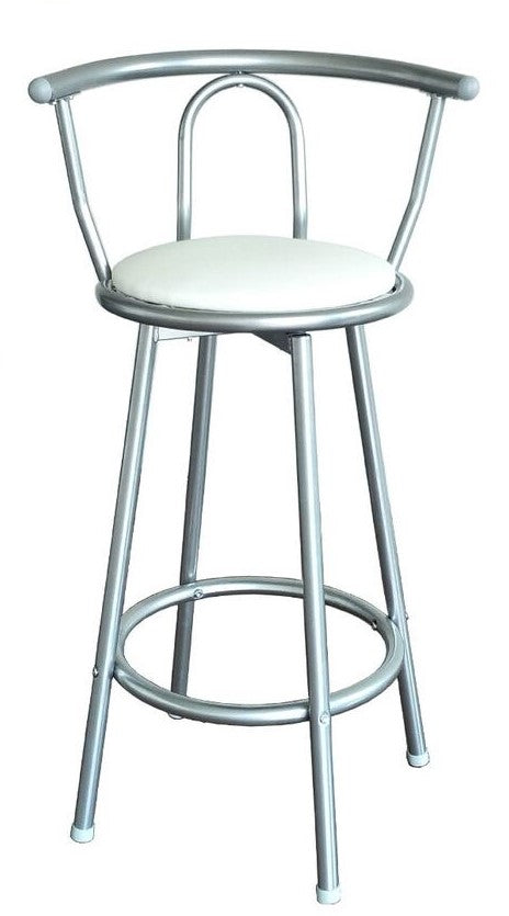 STOOL DE METAL COLOR GRIS RL-0350