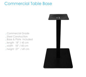 Base para mesa color negro tipo plato