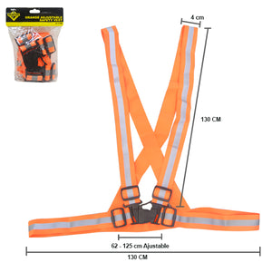 SAFE:S-1190 ORANGE ADJUSTABLE SAFETY VEST