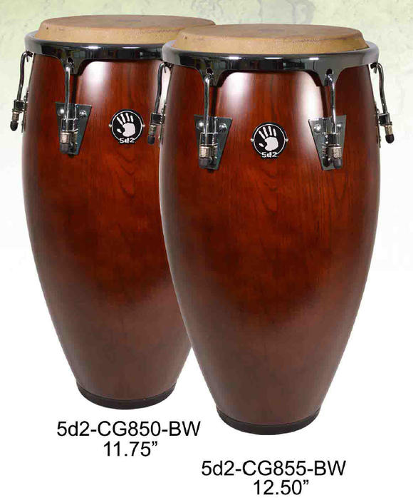 Set de congas color nogal 5d2