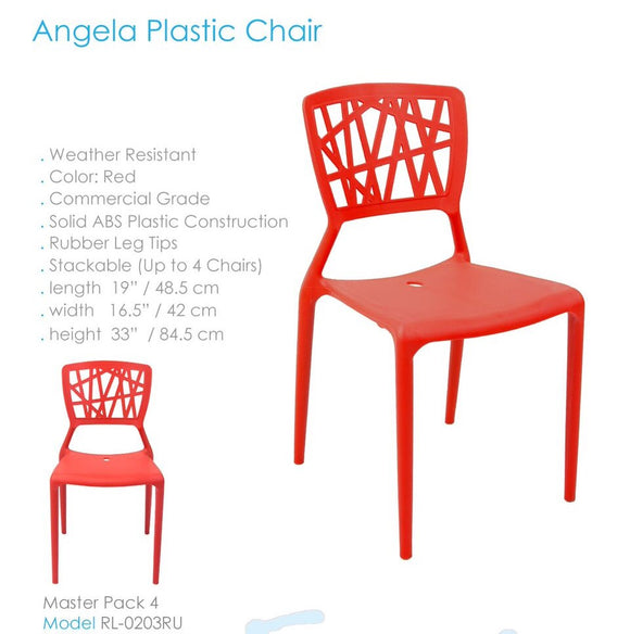 SILLA ANGELA PLASTIC CHAIR RL 0203