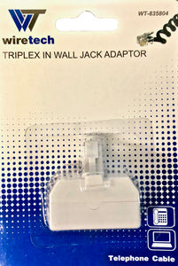 WT-835804  Triplex in Wall Jack Adaptor