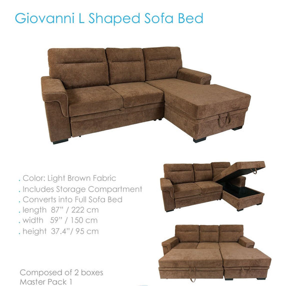 Sofa cama Giovanni color brown
