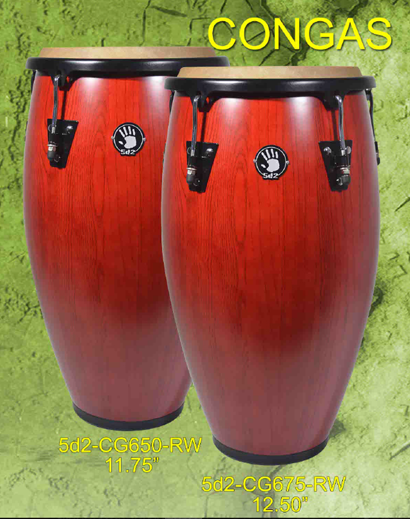 Set de congas color mahogany
