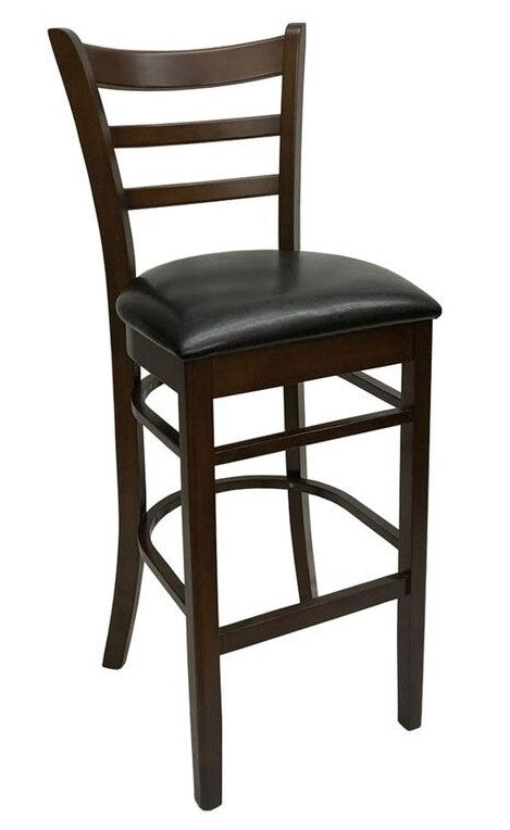 STOOL RL-0621MHJulia Wood Stool w/Cushion - Black/Mocha